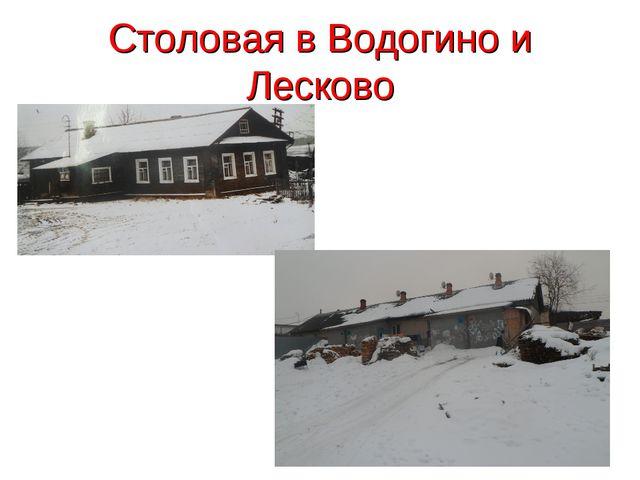 Столовая в Водогино и Лесково
