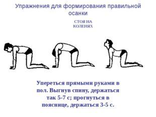 Упереться прямыми руками в пол, отводить назад прямые ноги (поочередно) и го