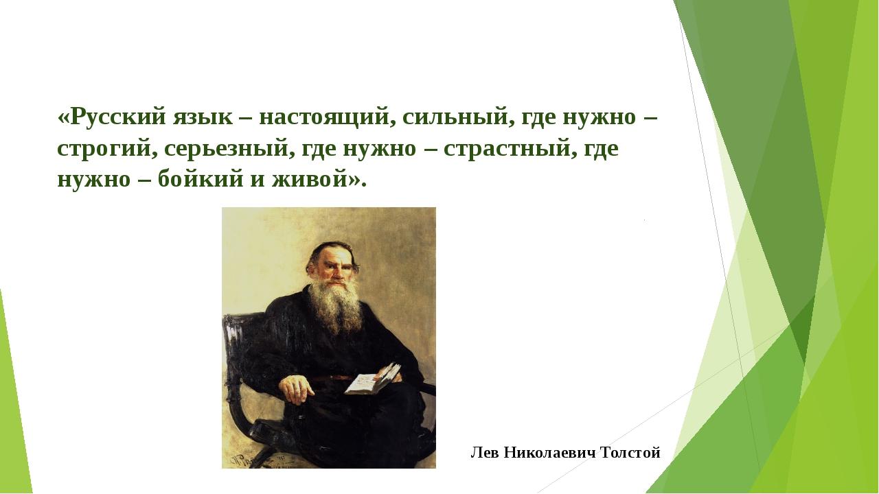 «Русский язык – настоящий, сильный, где нужно – строгий, серьезный, где нужно...