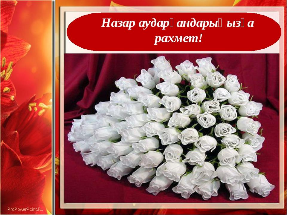 Назар аударғандарыңызға рахмет! ProPowerPoint.Ru