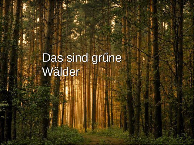 Das sind grűne Wälder