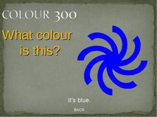 BACK It's blue. What colour is this?
