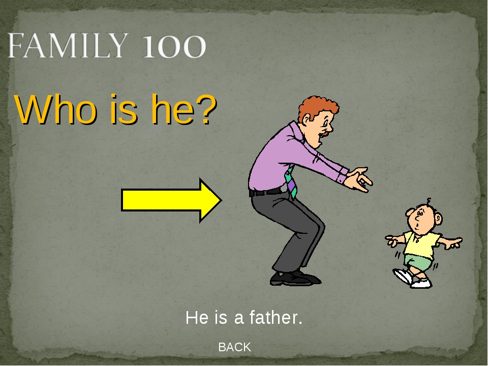 BACK He is a father. Who is he?
