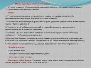 Интеграция образовательных областей: «Речевое развитие», «Социально-коммуник