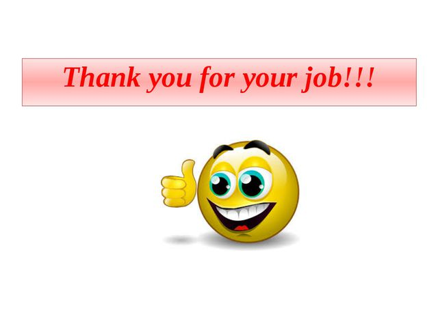 Thank you for your job!!!