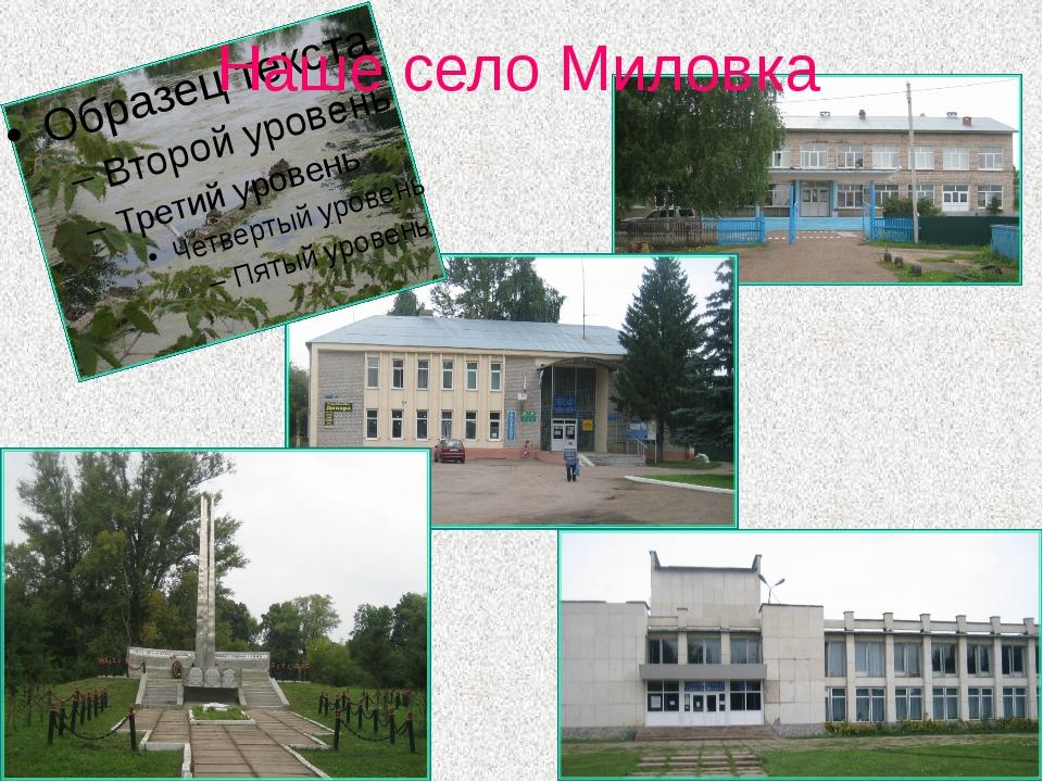 Наше село Миловка