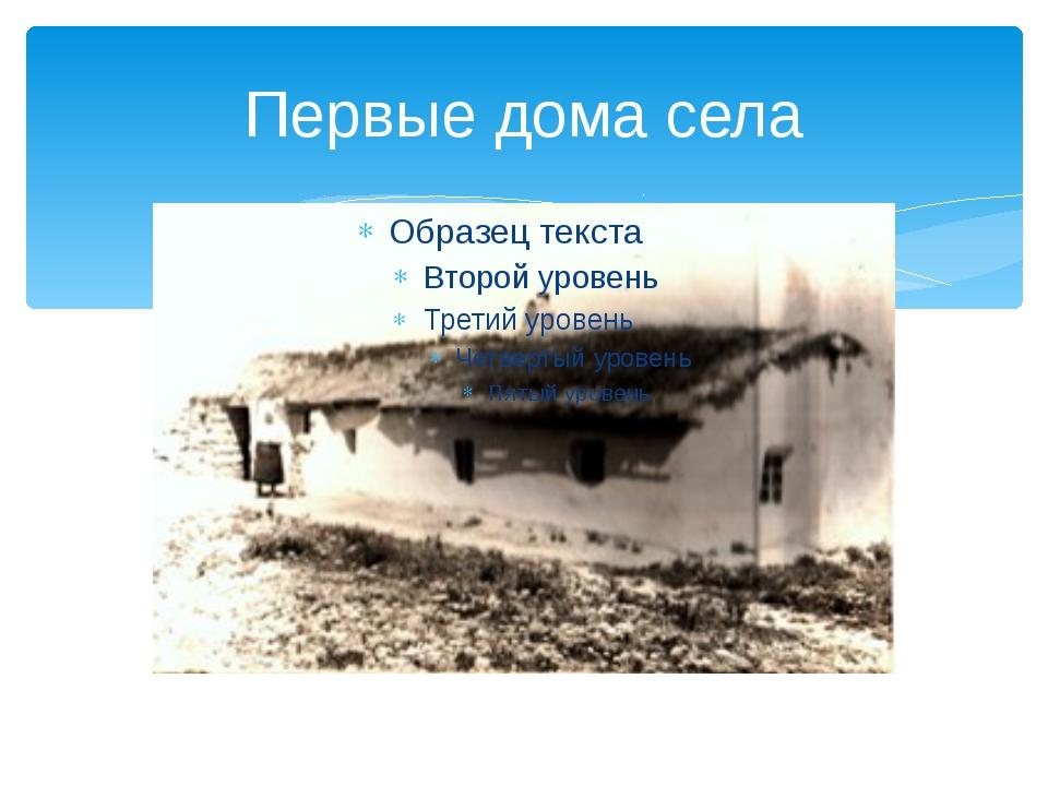 Первые дома села