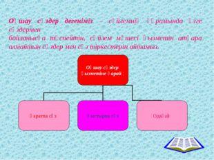 Оқшау сөздер дегеніміз – сөйлемнің құрамында өзге сөздермен байланысқа түспей