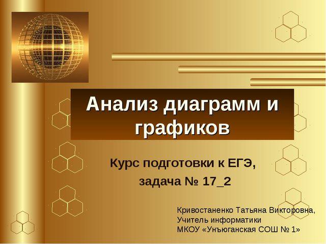 Анализ диаграмм и графиков Курс подготовки к ЕГЭ, задача № 17_2 Кривостаненко...