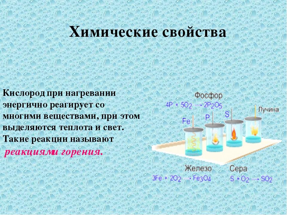 Кислород при нагревании энергично реагирует со многими веществами, при этом в...