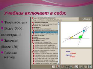 Учебник включает в себя: Теория(66тем) Более 3000 иллюстраций Задачник (более