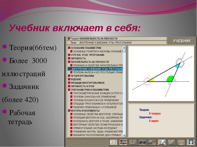 Учебник включает в себя: Теория(66тем) Более 3000 иллюстраций Задачник (более...