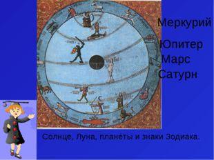 Солнце, Луна, планеты и знаки Зодиака. Меркурий Марс Юпитер Сатурн