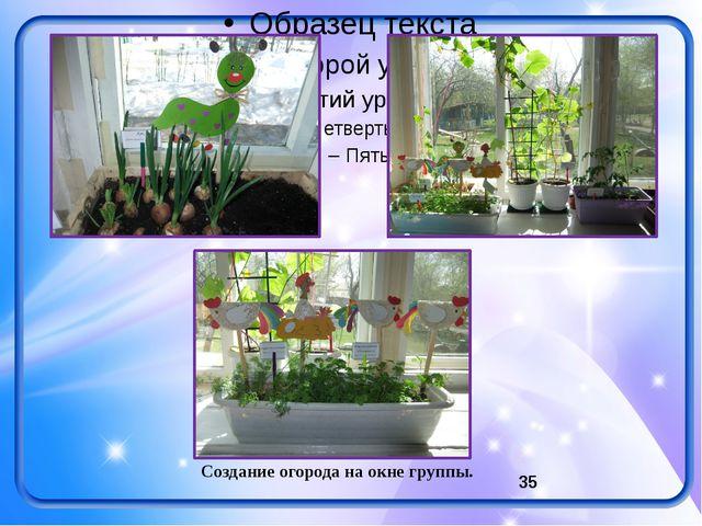 Создание огорода на окне группы.