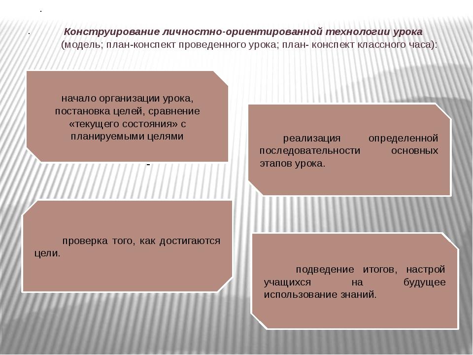 реализация определенной последовательности основных этапов урока. подведение...
