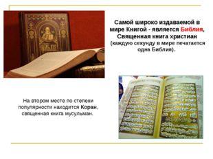 На втором месте по степени популярности находится Коран, священная книга мусу