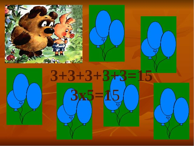 5+5+5+5=20 5×4=20