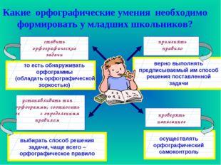 Какие орфографические умения необходимо формировать у младших школьников? ста
