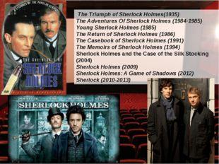 The Triumph of Sherlock Holmes(1935) The Adventures Of Sherlock Holmes (1984