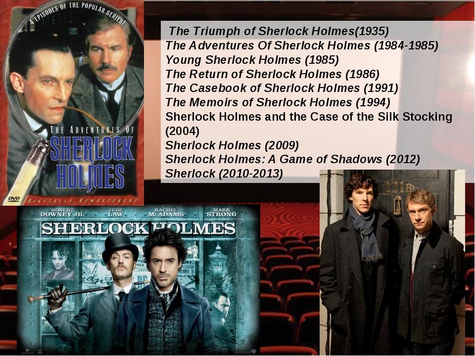 The Triumph of Sherlock Holmes(1935) The Adventures Of Sherlock Holmes (1984...