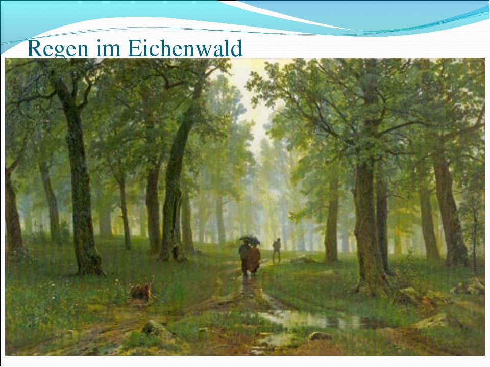 Regen im Eichenwald