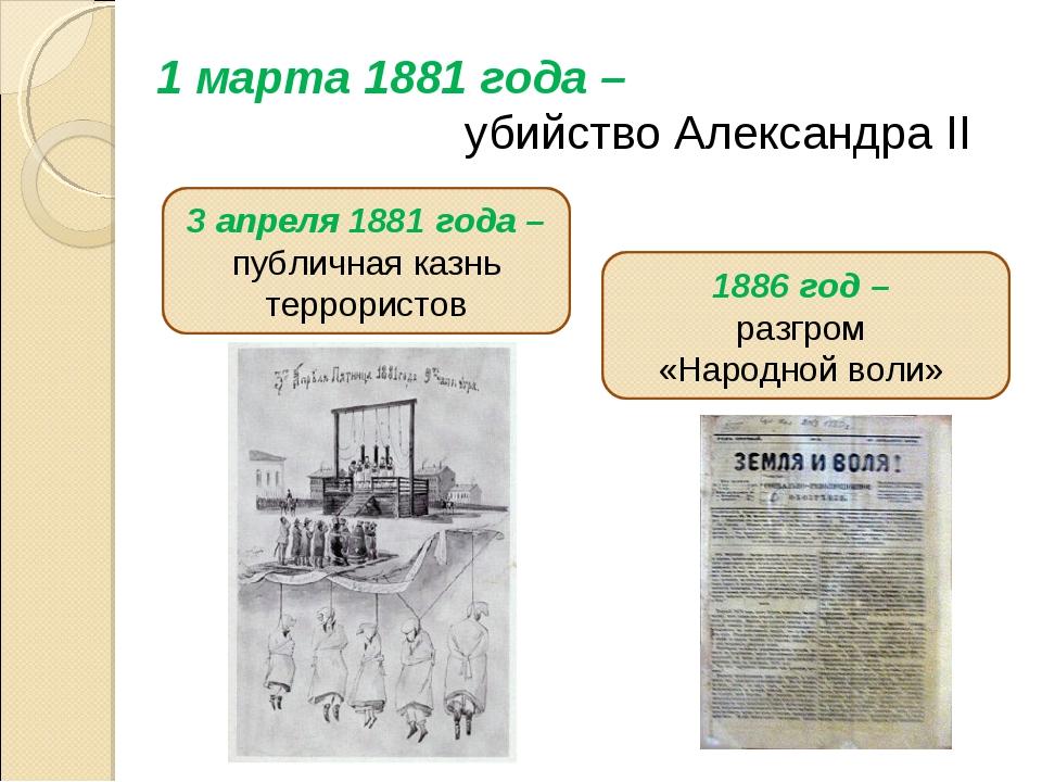 1 марта 1881 года – убийство Александра II