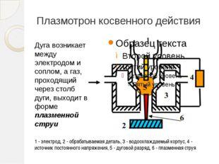 Плазмотрон косвенного действия 1 - электрод, 2 - обрабатываемая деталь, 3 - в
