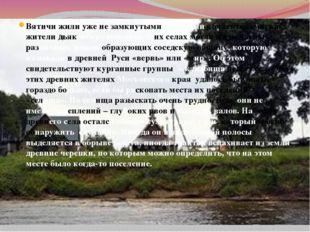 Вятичи жили уже не замкнутыми родовыми коллективами, как жители дьяковских го