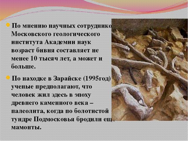 По мнению научных сотрудников Московского геологического института Академии н...