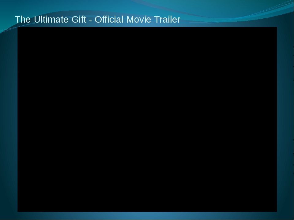 The Ultimate Gift - Official Movie Trailer