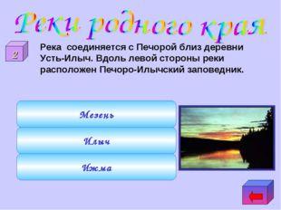 Ижма Илыч Мезень 2 Река соединяется с Печорой близ деревни Усть-Илыч. Вдоль л