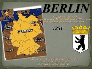 1251 Berlin hat eine reiche und interessante Geschichte Die Fläche ist 891,85