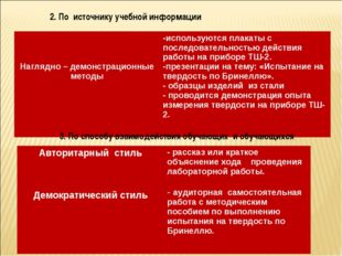 2. По источнику учебной информации 3. По способу взаимодействия обучающих и о