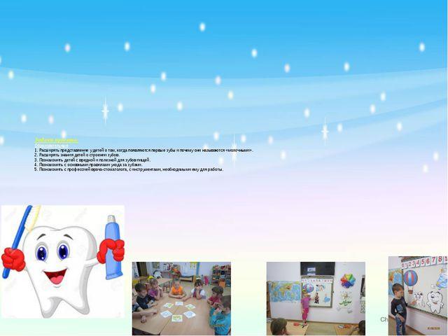 Задачи проекта: Образовательные. 1. Расширять представление у детей о том, ко...