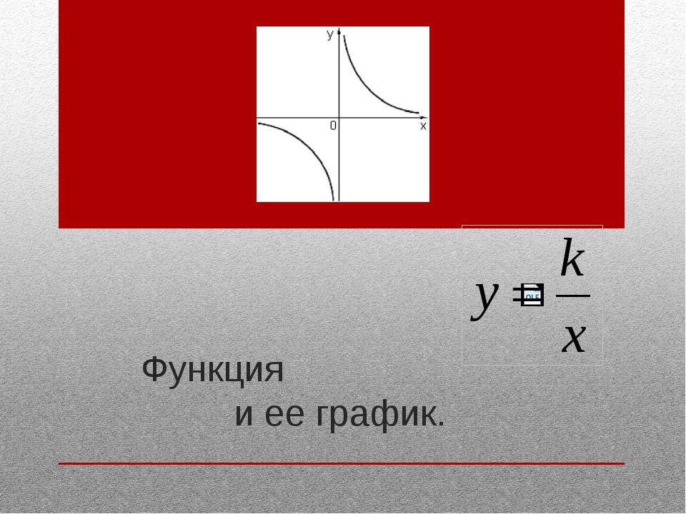 Функция и ее график.