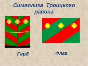 Символика Троицкого района Герб Флаг