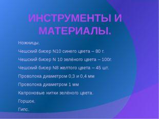 ИНСТРУМЕНТЫ И МАТЕРИАЛЫ. Ножницы. Чешский бисер N10 синего цвета – 80 г. Чешс