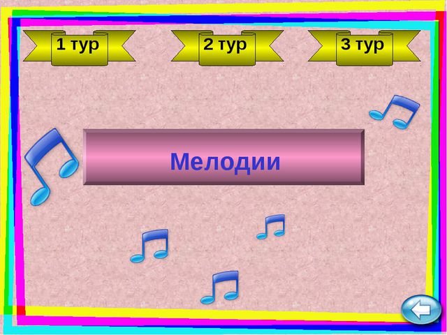 1 тур 2 тур 3 тур Мелодии