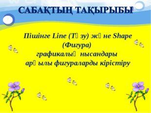 Пішінге Line (Түзу) және Shape (Фигура) графикалық нысандары арқылы фигуралар