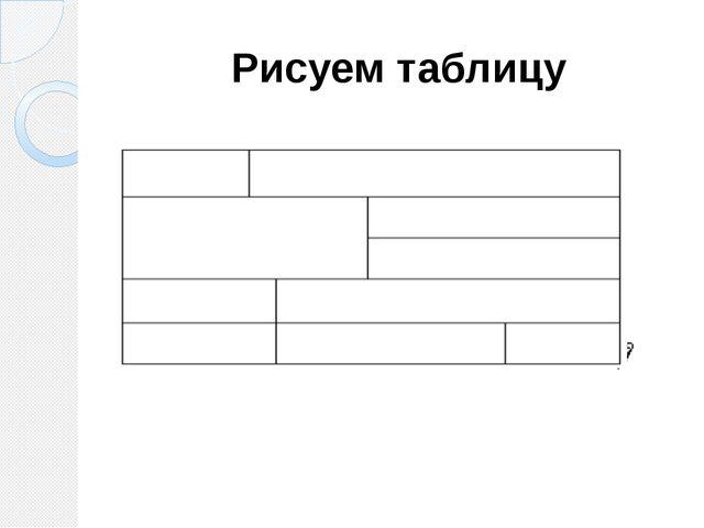 Рисуем таблицу