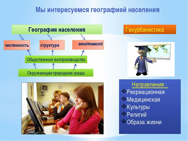 Мы интересуемся географией населения численность структура размещение Общест...