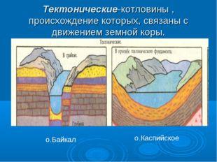 Тектонические-котловины , происхождение которых, связаны с движением земной к