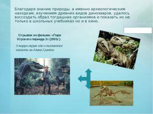 Благодаря знанию природы, а именно археологическим находкам, изучением древни