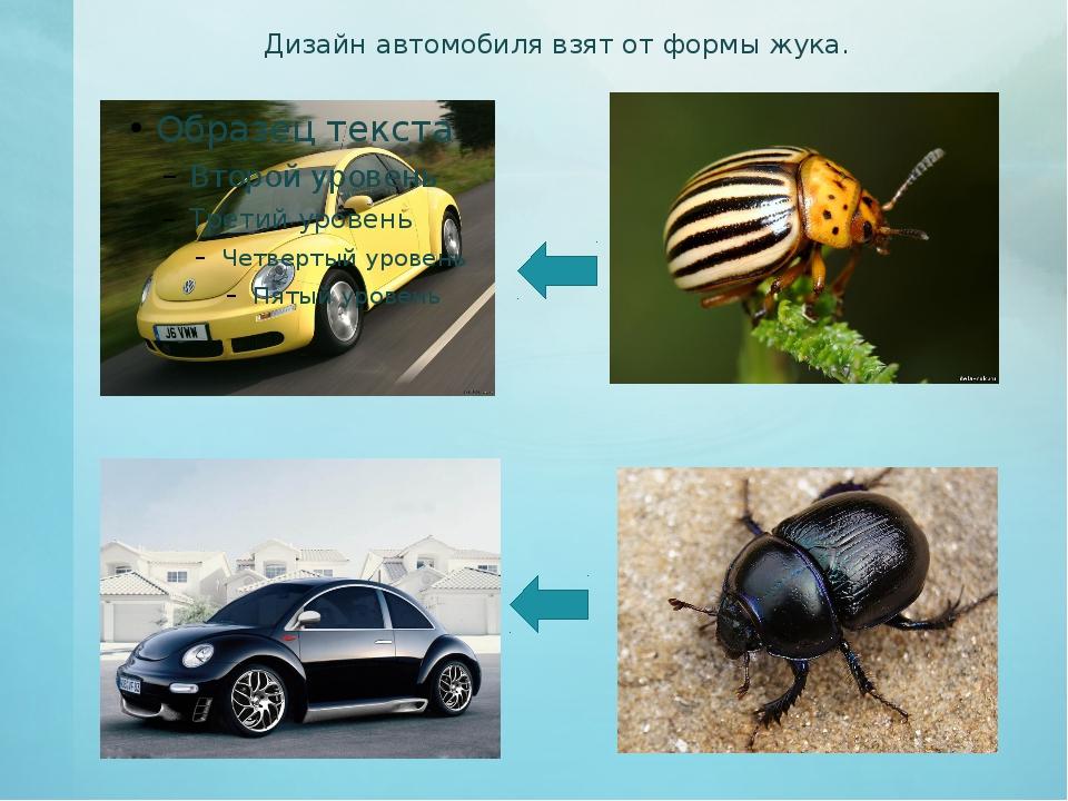 Дизайн автомобиля взят от формы жука.