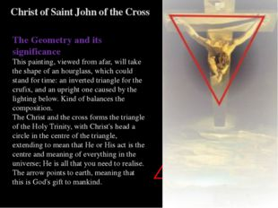 Christ of Saint John of the Cross The Geometry and its significance This pain