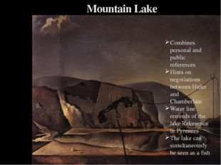 Mountain Lake Combines personal and public references Hints on negotiations b
