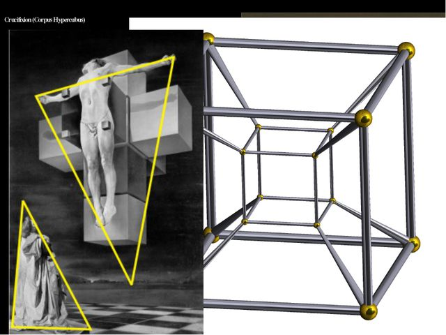 Crucifixion (Corpus Hypercubus) Evolvent of Tesseract