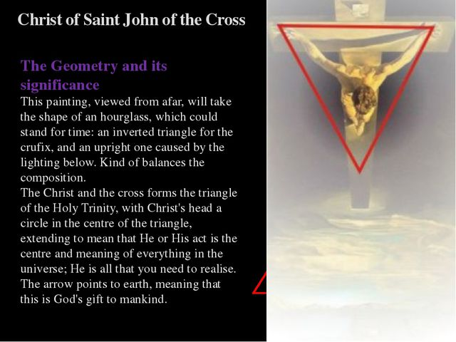 Christ of Saint John of the Cross The Geometry and its significance This pain...