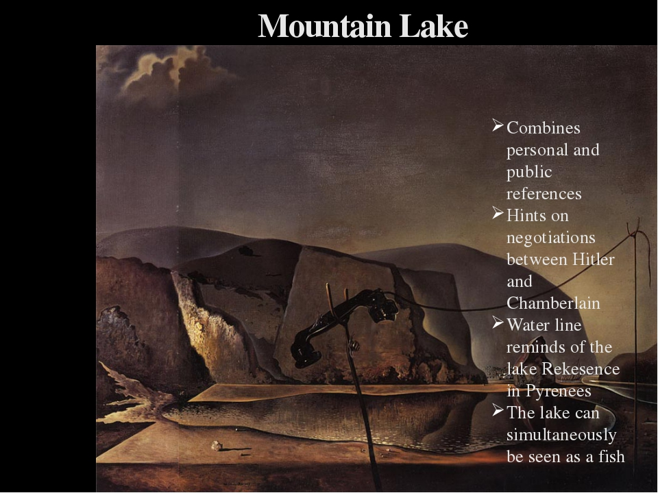 Mountain Lake Combines personal and public references Hints on negotiations b...
