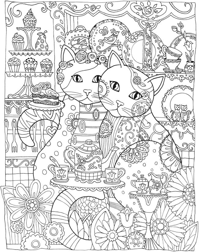 Creative Haven Creative Cats Colouring Book - Page 3 of 5: